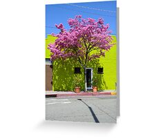 Green Brick Greeting Card