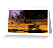 dust in sun over land of nun  Greeting Card