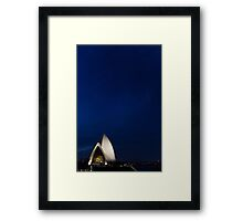 Lonely Sydney Opera House  Framed Print