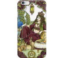 Queen of Pentacles, Card iPhone Case/Skin