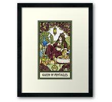 Queen of Pentacles, Card Framed Print