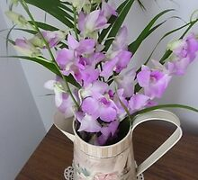 Beautiful Jug with Orchids by EdsMum