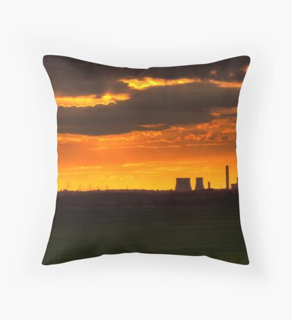 EMBERS IN THE CLOUD Throw Pillow