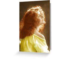 flaming red hair Greeting Card