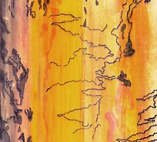 Scribbly Gum Monoprint by Marilyn Brown