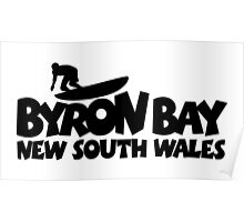 Byron Bay Surfing Poster