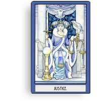 """Justice"" Tarot Card Canvas Print"