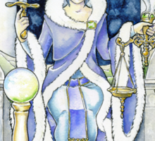 """Justice"" Tarot Card Sticker"
