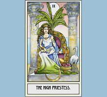 The High Priestess - Card Womens Fitted T-Shirt