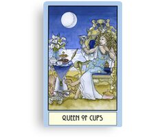 Queen of Cups, Card Canvas Print