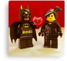 Batman Loves Wyldstyle Canvas Print
