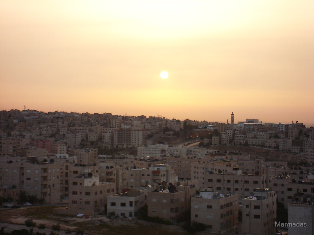 Sunset Over Amman by Marmadas