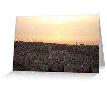 Sunset Over Amman Greeting Card