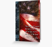 Aged Flag-Thank You Greeting Card