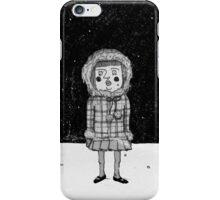 Little girl in snow iPhone Case/Skin