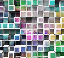 Colorful 3D Cubes 1 by Phil Perkins