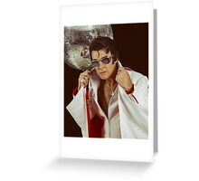 Elvis and the disco ball Greeting Card