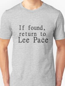 If found, return to Lee Pace T-Shirt