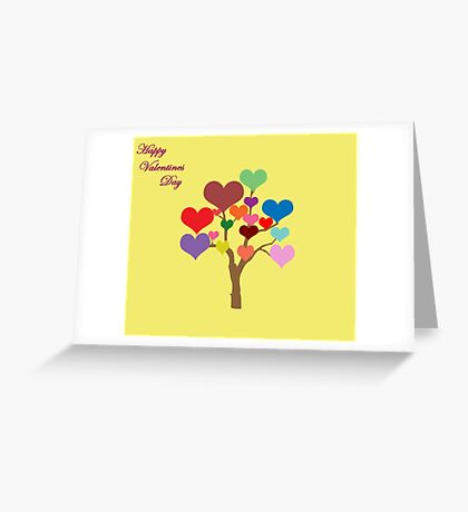 Tree of Hearts (Happy Valentines) Greeting Card
