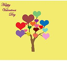 Tree of Hearts (Happy Valentines) Photographic Print