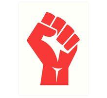 Red Power Fist Art Print