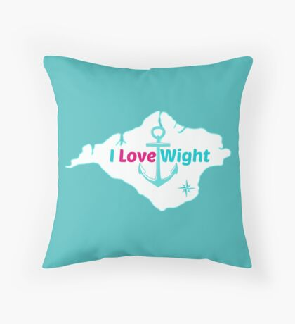 I LOVE WIGHT Throw Pillow