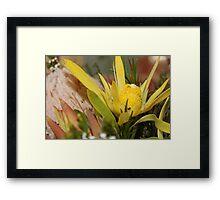 Yellow Marvel Framed Print