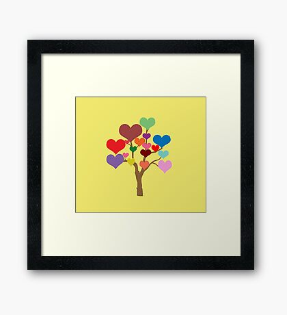 Tree of Hearts Framed Print
