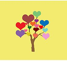 Tree of Hearts Photographic Print