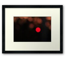 Sunset Pixel Framed Print