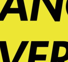 TRANCE FEVER (YELLOW) Sticker