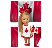 °♥ ˚ • ★PATRIOTIC DOLL WAVING HER FLAG FOR CANADA TRUE PATRIOT LOVE °♥ ˚ • ★ Poster