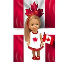°♥ ˚ • ★PATRIOTIC DOLL WAVING HER FLAG FOR CANADA TRUE PATRIOT LOVE °♥ ˚ • ★ Photographic Print
