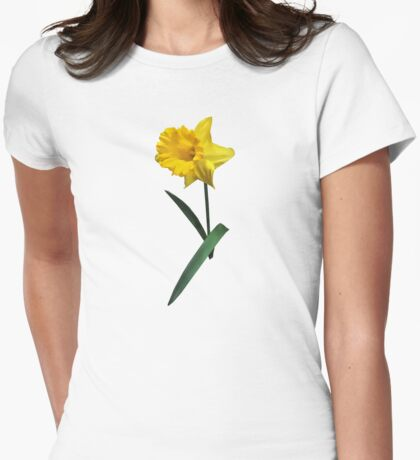 Daffodil Waving Hi Womens Fitted T-Shirt