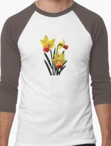 Three Daffodils Men's Baseball ¾ T-Shirt