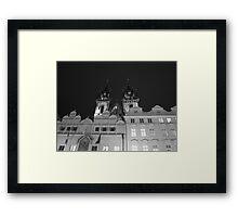 Prague by night Framed Print