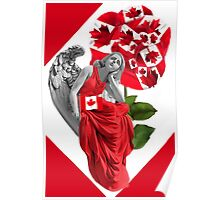 ☀ ツANGEL WATCHING OVER US PICTURE/CARD - PILLOW AND TOTE BAG (TRIBUTE TO CANADA)☀ ツ Poster