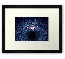 the black hole Framed Print
