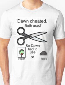 Dawn Cheated - Rock, Paper, Scissors  T-Shirt