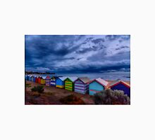 Beach Boxes in a Storm Unisex T-Shirt
