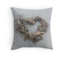 heart of seaweed Throw Pillow