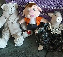 Three friends who sit on my settee - just for young folk. by EdsMum