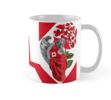 ☀ ツANGEL WATCHING OVER US WITH CANADIAN FLAG.& DESIGNED CANDIAN ROSE. (TRIBUTE TO CANADA) MUG ☀ ツ Mug