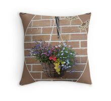Hanging Basket Throw Pillow