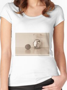 Waiting on the shelf Women's Fitted Scoop T-Shirt
