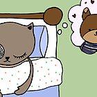 dreaming cat by MedusasCousin