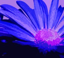 Flower  in Blue and Pink With Purple Pop Art Abstract Sticker