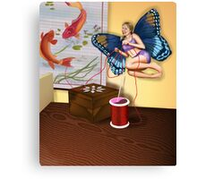 Sewing Fairy Canvas Print