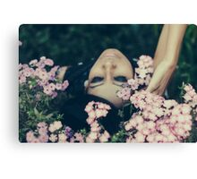 dreaming with flowers Canvas Print