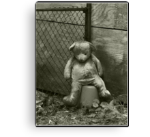 Neglected Teddy Canvas Print
